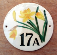 Daffodil 17 Round Sign