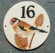 Goldfinch 16 Round Sign