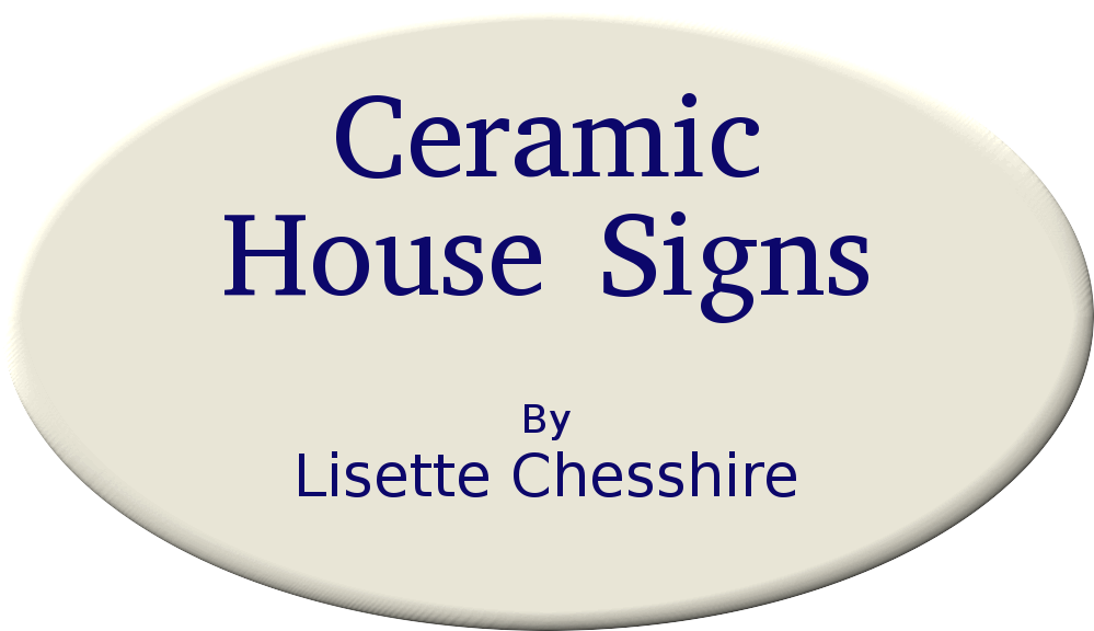 Ceramic House Signs by Lisette Chesshire