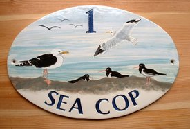 Sea Cop Oval Sign